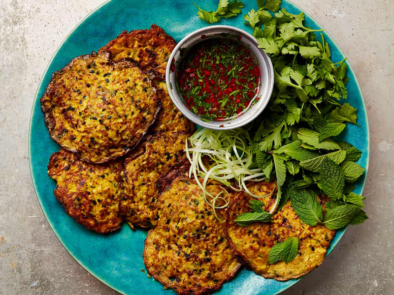 Ottolenghi corn fritters
